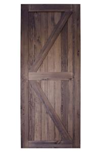 drzwi przesuwne drewniane orzechowe, styl barn doors