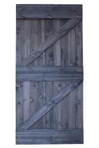 drzwi rustykalne szare, drzwi przesuwne grafitowe, model dwa zet