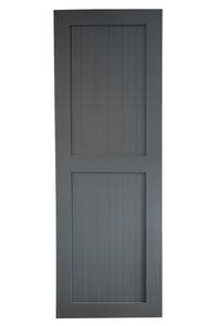 szare drzwi przesuwne, wysokie, styl skandynawski