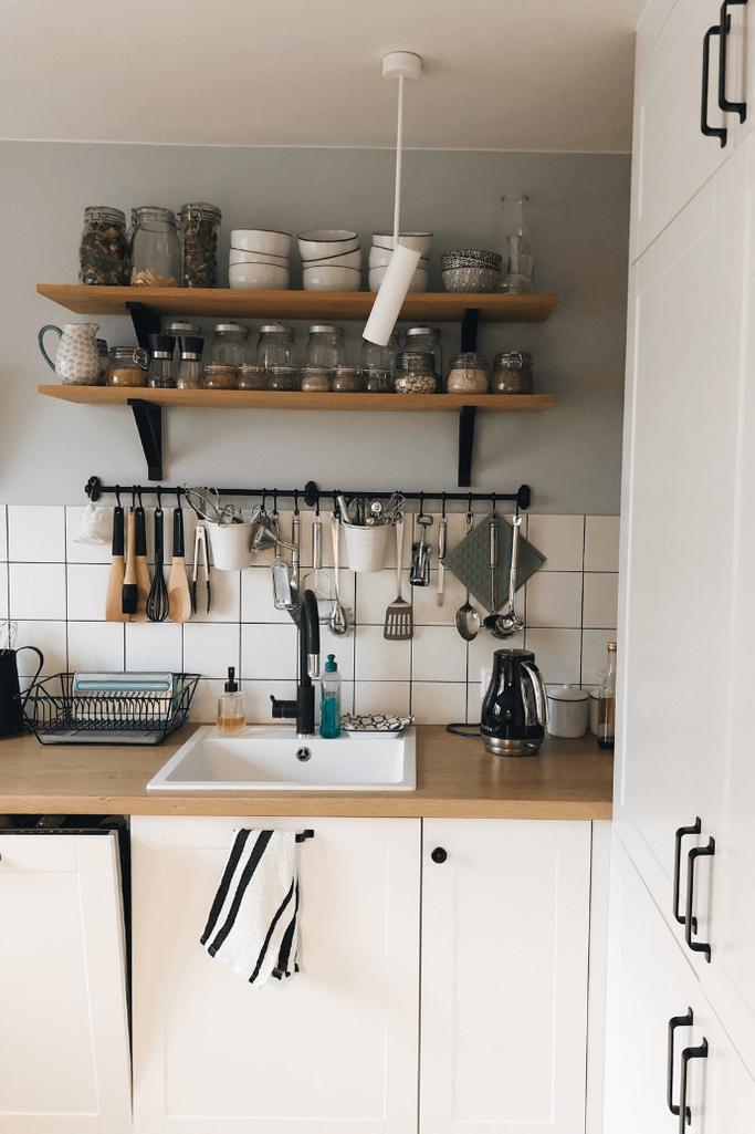 aranżacja kuchni w stylu industrialnym, industrialne dekoracje