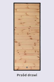 Drzwi drewniane industrialne PIANO