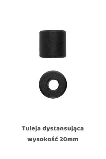 Tuleja dystansująca 20mm, kolor czarny
