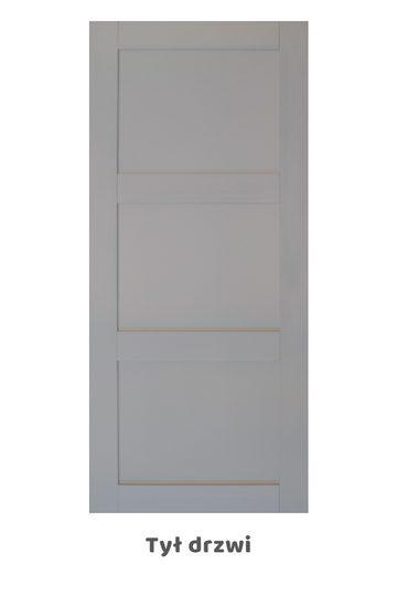 Drzwi przesuwne ANGEL, kolor RAL7045