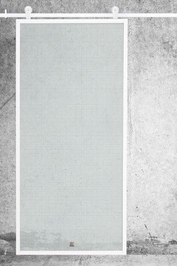 Białe drzwi ze szkłem, model GLASSO