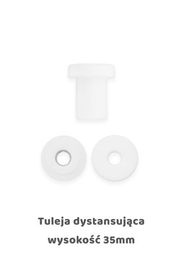 Tulejka dystansująca biała 35mm