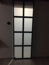 drzwi przesuwne industrialne, drzwi przesuwne ze szkłem, drzwi metalowe ze szkłem