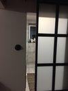 drzwi przesuwne industrialne, drzwi przesuwne ze szkłem, drzwi metalowe ze szkłem, drzwi przesuwne do łazienki