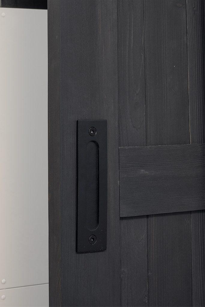 płaska klamka do drzwi przesuwnych, pochwyt do drzwi przesuwnych, drzwi przesuwne drewniane