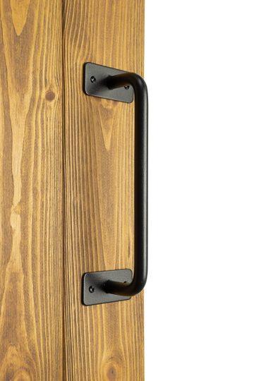 Uchwyt metalowy czarny do drzwi przesuwnych, model INKA