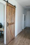 drzwi z litego drewna, rustykalne drzwi, drzwi przesuwne