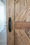 rustykalne drzwi przesuwne, klamka do drzwi przesuwnych