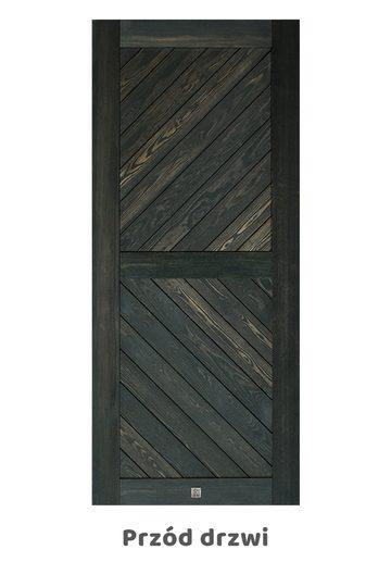 Drzwi przesuwne drewniane CARO, kolor czarny dąb