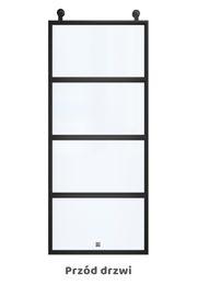 Drzwi przesuwne ATELIER 4, szkło przezroczyste