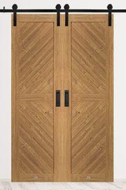 Drzwi przesuwne dwuskrzydłowe drewniane, model CARO