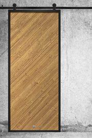 Drzwi loftowe drewniane w stalowej ramie, model VECO