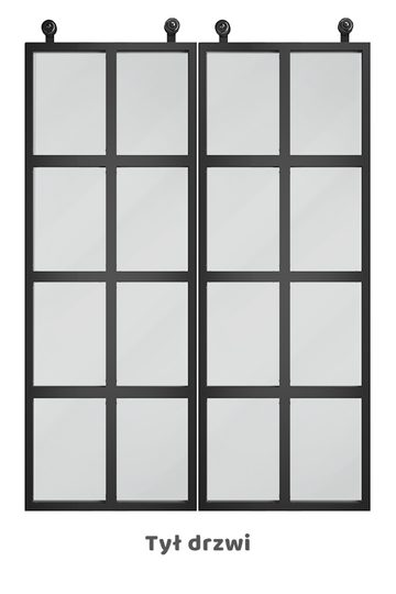 Drzwi przesuwne szklane loft, model VERRIERE