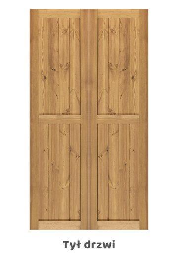 Wąskie drzwi przesuwne FINKA dwuskrzydłowe