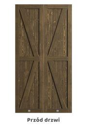 Drzwi przesuwne podwójne KAMA, khaki