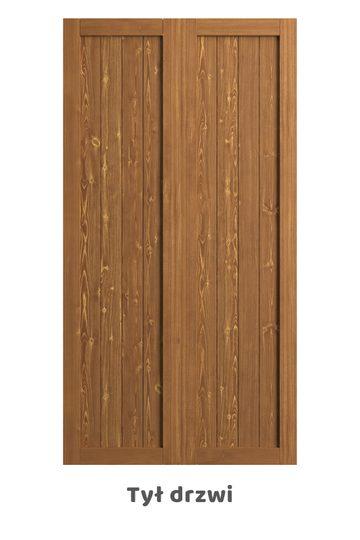 Drzwi podwójne RAMA, dąb