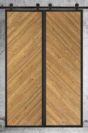 Drzwi przesuwne dwuskrzydłowe loftowe, model VECO